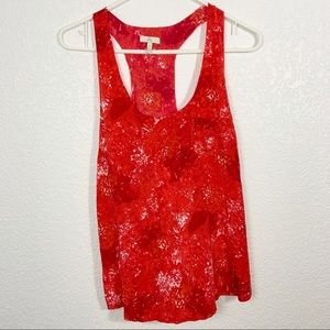 Joie Red Silk Tank Top Small